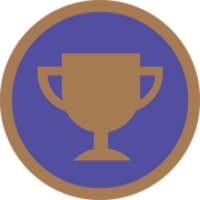 Bronze trophy badge
