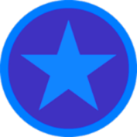 Filled-in star badge
