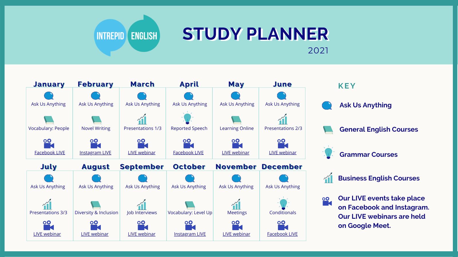 Study Planner 2021